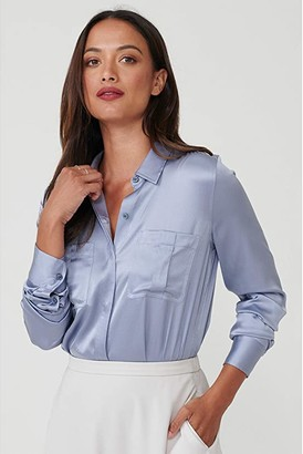 UNTUCKit Carlina Eco Friendly Stretch Silk Button-Up Blouse
