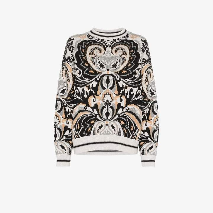 5dc8975080 paisley tapestry wool blend jumper