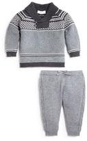 Angel Dear Infant Boys' Shawl Collar Sweater & Pants Set - Sizes 3-24 Months