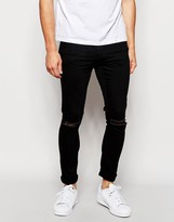 ONLY & SONS Black Jeans with Rips in Skinny Fit