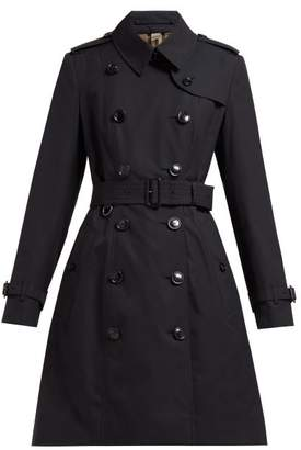 Burberry Chelsea Double-breasted Cotton Trench Coat - Womens - Navy