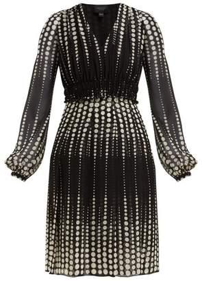 Giambattista Valli Polka Dot-print Silk-chiffon Dress - Womens - Black White