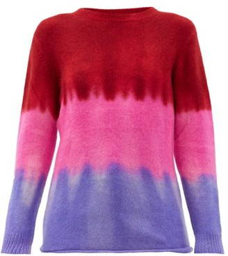 The Elder Statesman Gradient Tie-dye Cashmere Sweater - Pink Multi