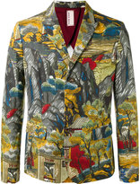 Antonio Marras landscape allover print blazer