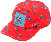Kenzo May Flower Printed Velvet Baseball Hat