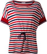 Moncler drawstring waist striped T-shirt