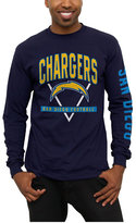 Junk Food Clothing Men's San Diego Chargers Nickel Formation Long Sleeve T-Shirt