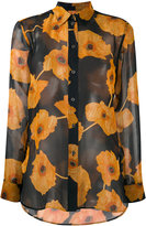 Paul Smith floral print sheer shirt - women - Silk/Cupro - 40