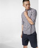 Express soft wash check print cotton shirt