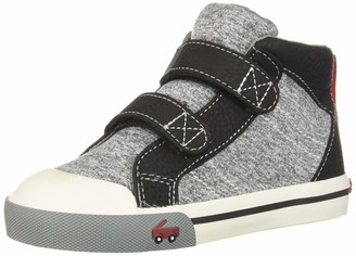 See Kai Run Boy's Matty Sneaker Black Jersey 13 M US Little Kid