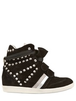 Serafini 70mm Studded Suede Sneakers