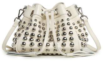 Vicenzo Leather Jolyn Studded Mini Leather Bucket Bag