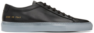 Common Projects Black Ice Sole Achilles Low Sneakers