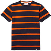 Norse Projects Niels Striped Cotton-jersey T-shirt - Midnight blue