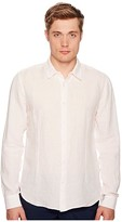 Orlebar Brown Morton Tailored Long Sleeve Shirt (Camellia) Men's Clothing