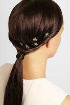 Jennifer Behr Set of five Swarovski crystal-embellished hairclips