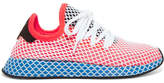 adidas Deerupt Suede-trimmed Stretch-knit And Mesh Sneakers - Red