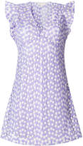 MICHAEL Michael Kors floral-embroidered mesh mini dress