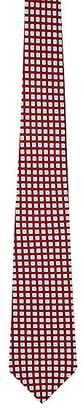 Kiton Men's Square-Pattern Necktie - Wine