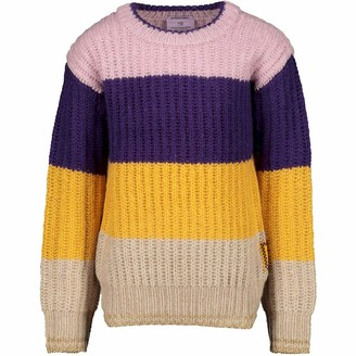 Scotch & Soda Girl's Coloublock Crewneck Pullover Sweater