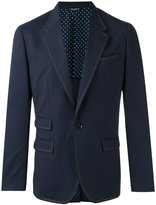 Dolce & Gabbana contrast stitch trim blazer - men - Silk/Spandex/Elastane/Virgin Wool - 48