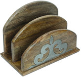 GG Collection G G Collection Wood & Metal Inlay Letter Holder
