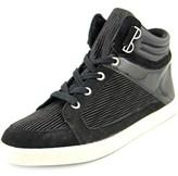 Calvin Klein Lyda Women Leather Black Fashion Sneakers.