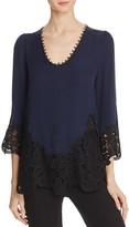 Kobi Halperin Janay Lace-Embellished Silk Blouse