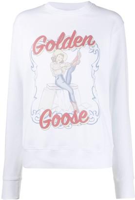 Golden Goose Logo Print Crewneck Sweatshirt