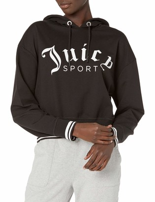Juicy Couture Women's Cropped Logo Pullover Hoodie