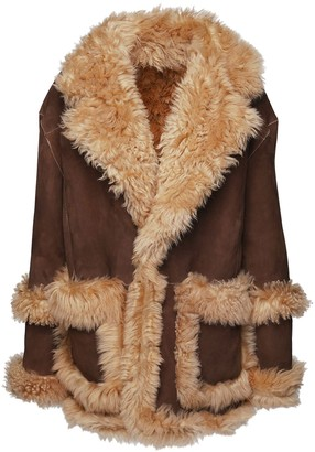 DSQUARED2 Oversized Shearling Coat
