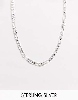Regal Rose necklace in silver plated figaro chain