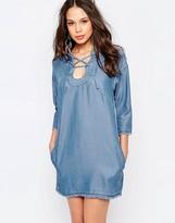 Seafolly Lace Up Chambray Dress