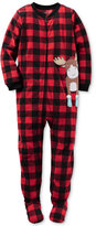 Carter's 1-Pc. Buffalo Check Moose Footed Pajamas, Toddler Boys (2T-5T)