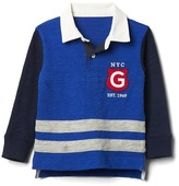 Gap Rugby logo colorblock polo