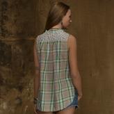 Denim & Supply Ralph Lauren Plaid Sleeveless Tomboy Shirt