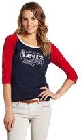 Levi's Women's Raglan Sleeve T-Shirt with Studs