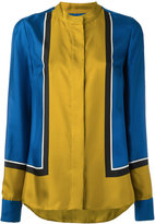 Diane von Furstenberg colour-block shirt