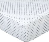 American Baby Company 100% Cotton Percale Fitted Crib Sheet - White with Gray Dot