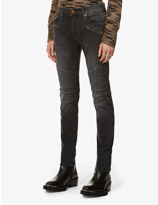 True Religion Rocco Moto slim stretch-denim jeans