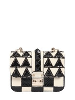 Valentino Mini Lock Geometric Leather & Ayers Bag