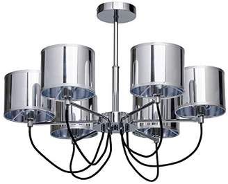 Modern Chandelier 6 Light – Metal Chromfarbige Acrylic Shade Living Room Excl 6 * 40 W/E14/2700 K