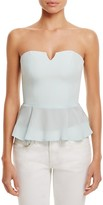 Amanda Uprichard Lizzie Silk Peplum Top