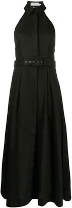 Zimmermann Bonita belted linen dress