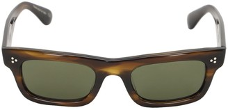 Oliver Peoples Jaye Square Bolded Acetate Sunglasses