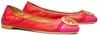 Tory Burch Minnie Cap-Toe Ballet Flat