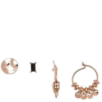 AREA STARS Stud & 15mm Hoop Earrings - Set of 3
