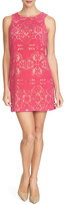 Cynthia Steffe Sleeveless Jewel-Neck Shift Dress, Dancing Rose