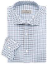 Canali Modern-Fit Grid-Print Dress Shirt