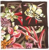 Salvatore Ferragamo butterfly floral print scarf